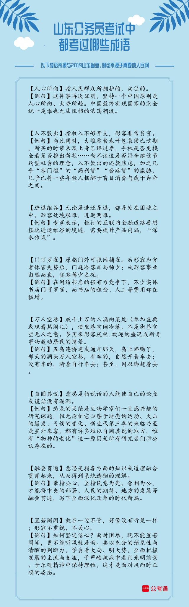考点梳理!2019年山东省考中的成语(上)